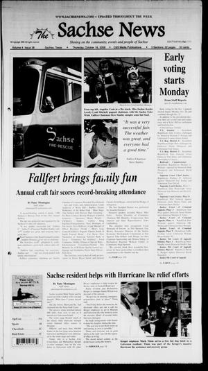 Primary view of object titled 'The Sachse News (Sachse, Tex.), Vol. 4, No. 38, Ed. 1 Thursday, October 16, 2008'.