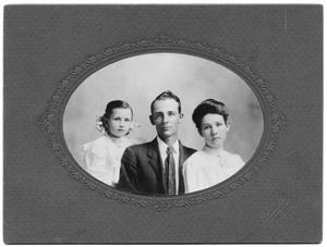 Primary view of object titled 'Portrait of May Eugene Kincaid and his wife and child'.