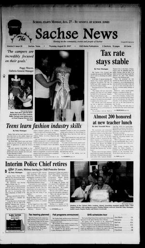 Primary view of object titled 'The Sachse News (Sachse, Tex.), Vol. 3, No. 30, Ed. 1 Thursday, August 23, 2007'.