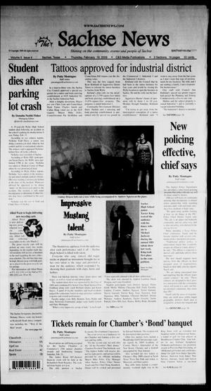 Primary view of object titled 'The Sachse News (Sachse, Tex.), Vol. 5, No. 4, Ed. 1 Thursday, February 19, 2009'.