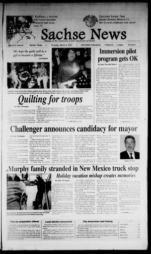 Primary view of object titled 'The Sachse News (Sachse, Tex.), Vol. 3, No. 6, Ed. 1 Thursday, March 8, 2007'.
