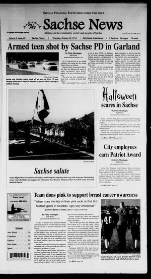 Primary view of object titled 'The Sachse News (Sachse, Tex.), Vol. 6, No. 40, Ed. 1 Thursday, October 28, 2010'.