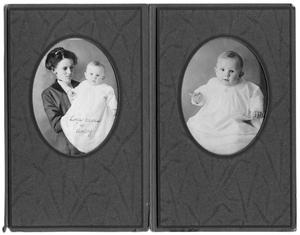Primary view of object titled 'Portraits of Lois Cross and her baby'.