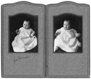 Primary view of object titled 'Portraits of Jim Scrivner as a baby'.