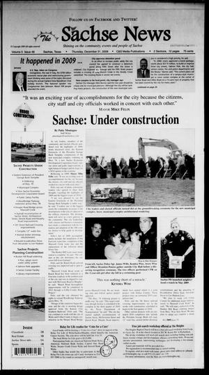 Primary view of object titled 'The Sachse News (Sachse, Tex.), Vol. 5, No. 49, Ed. 1 Thursday, December 31, 2009'.
