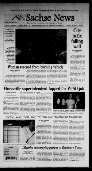 Primary view of object titled 'The Sachse News (Sachse, Tex.), Vol. 7, No. 10, Ed. 1 Thursday, March 31, 2011'.