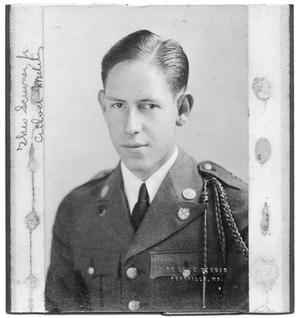 Primary view of object titled 'Portrait of Theo Scrivner Jr. in a military uniform'.