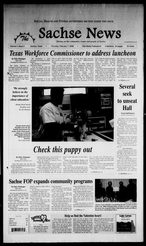 Primary view of object titled 'The Sachse News (Sachse, Tex.), Vol. 4, No. 2, Ed. 1 Thursday, February 7, 2008'.
