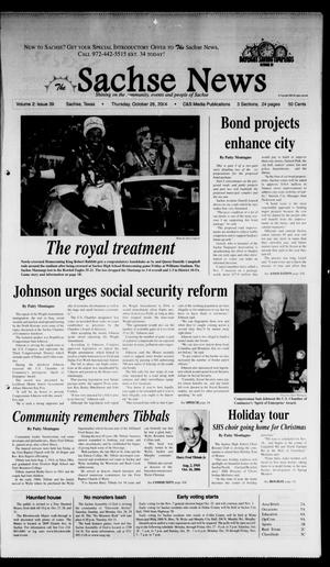 Primary view of object titled 'The Sachse News (Sachse, Tex.), Vol. 2, No. 39, Ed. 1 Thursday, October 26, 2006'.
