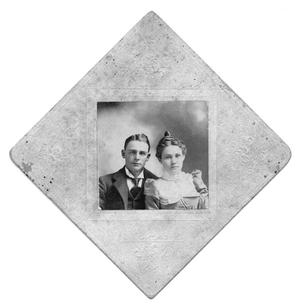 Primary view of object titled 'Portrait of Arthur Eugene Kincaid and an unidentified woman'.