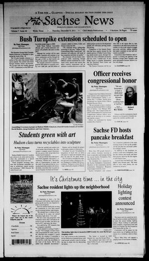 Primary view of object titled 'The Sachse News (Sachse, Tex.), Vol. 7, No. 46, Ed. 1 Thursday, December 8, 2011'.