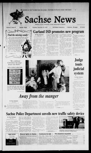 Primary view of object titled 'The Sachse News (Sachse, Tex.), Vol. 3, No. 47, Ed. 1 Thursday, December 20, 2007'.
