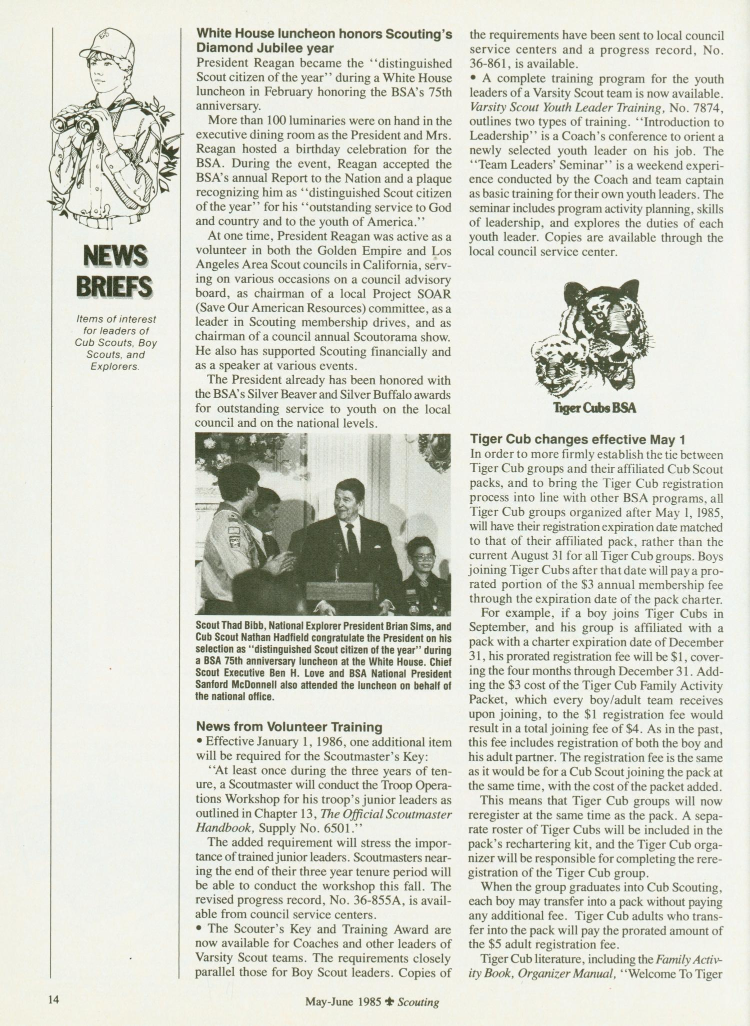 Scouting, Volume 73, Number 3, May-June 1985                                                                                                      14