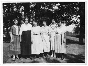 Primary view of object titled 'Women of the Vise and Conrady family at a reunion'.
