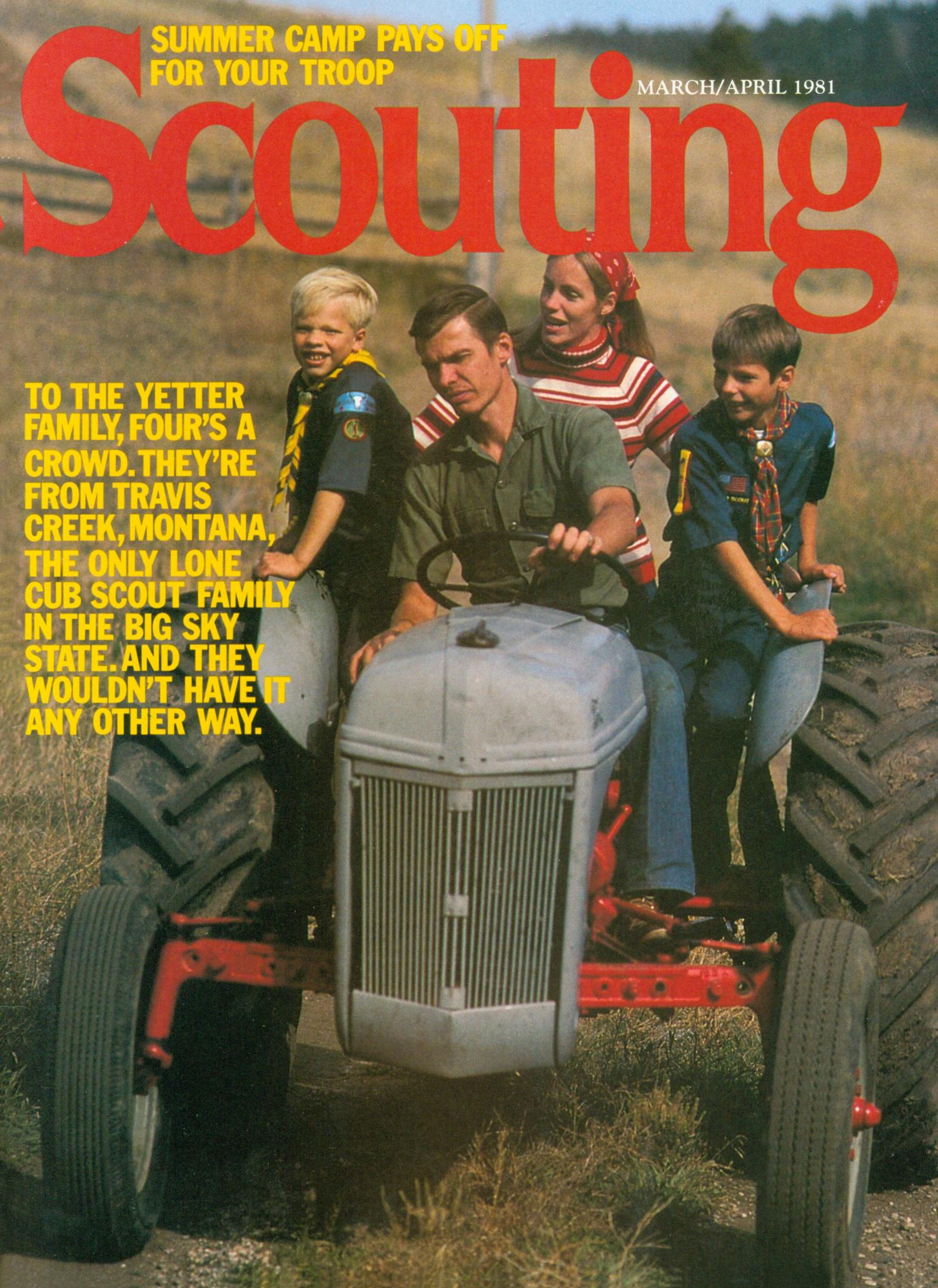 Scouting, Volume 69, Number 2, March-April 1981                                                                                                      Front Cover