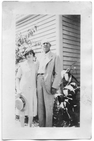 Primary view of object titled 'Henry Scrivner with his daughter Bess Scrivner'.