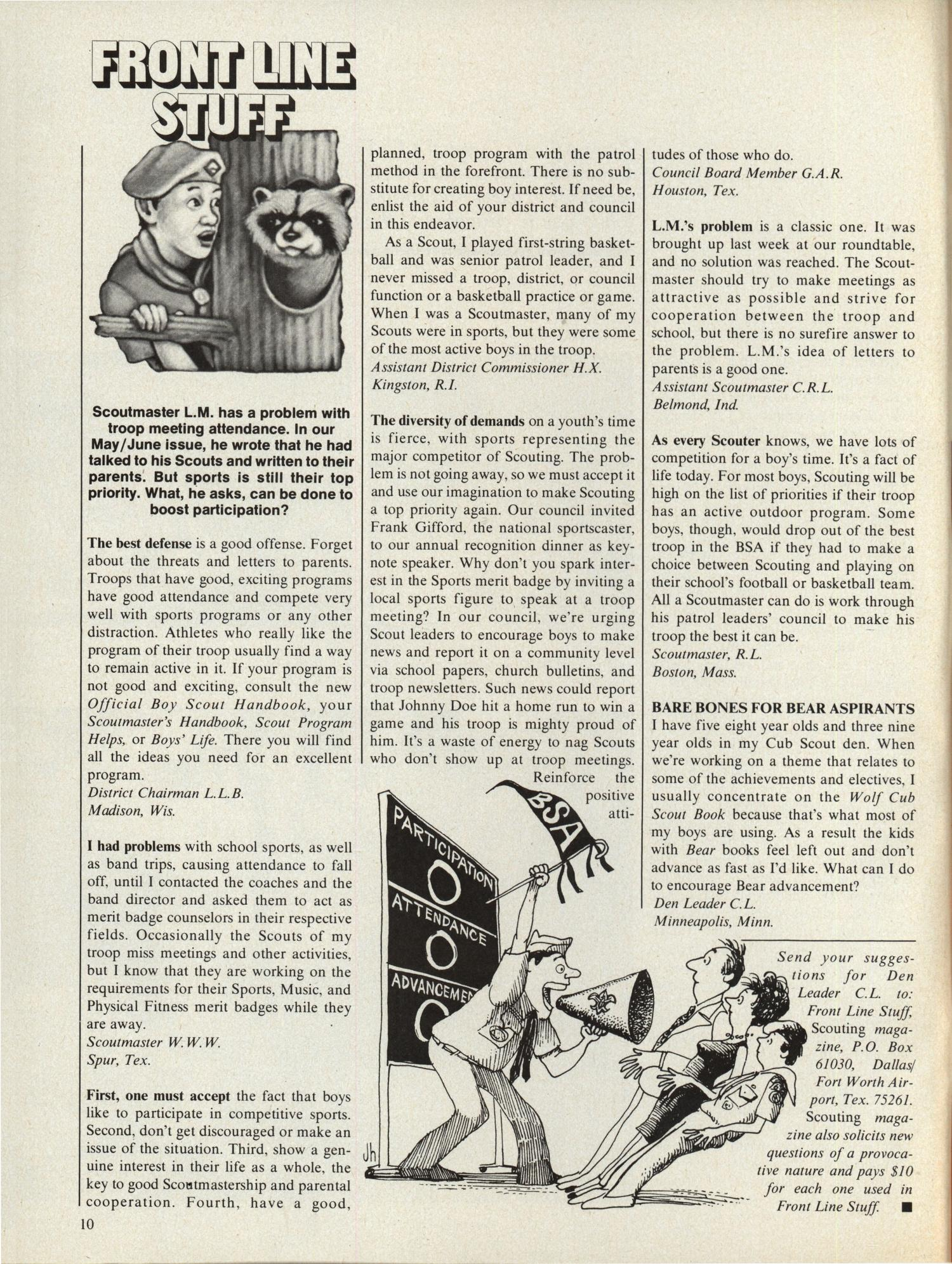 Scouting, Volume 67, Number 5, October 1979                                                                                                      10