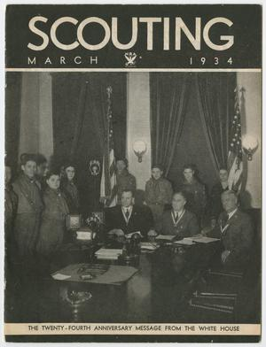 Primary view of object titled 'Scouting, Volume 22, Number 3, March 1934'.