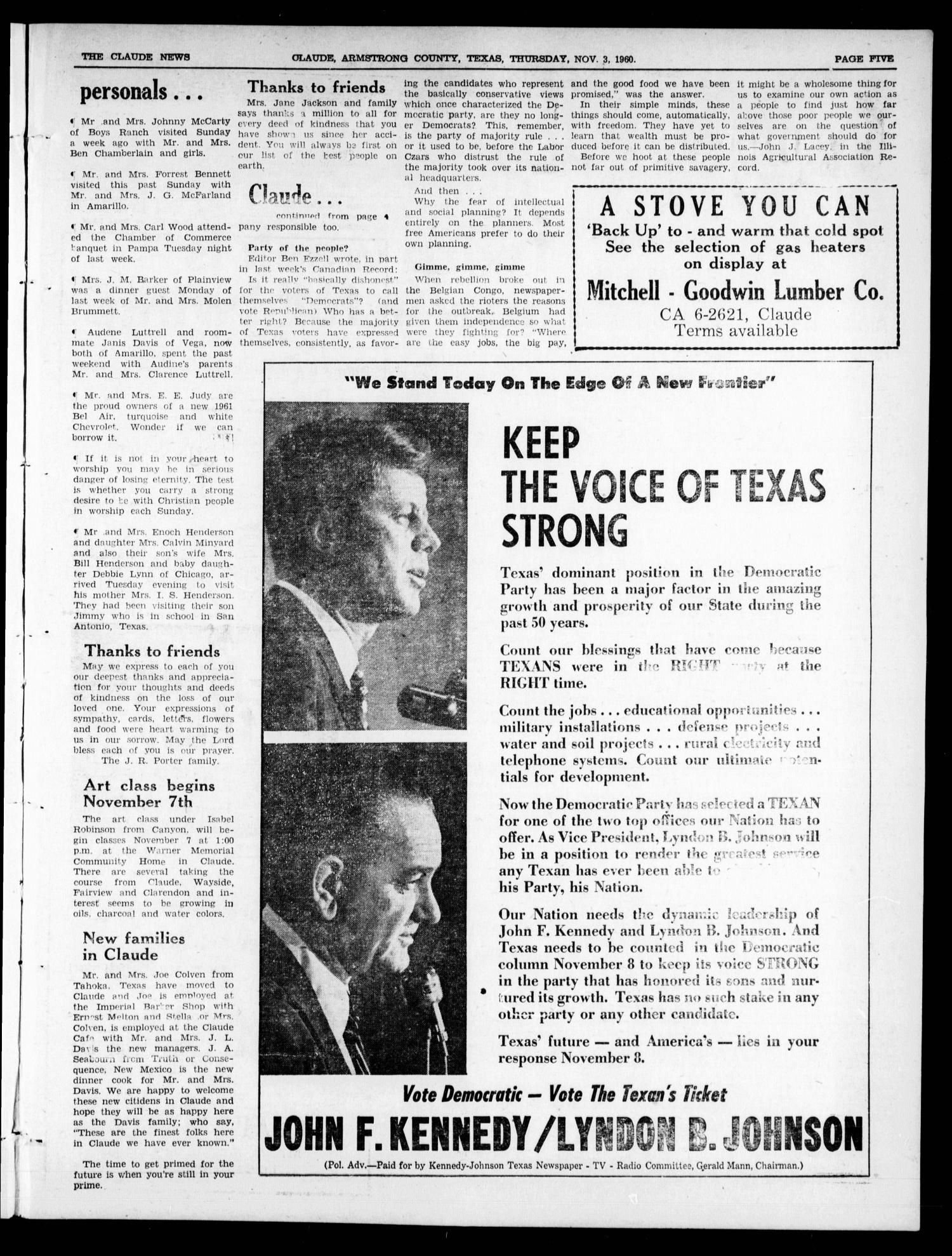 The Claude News (Claude, Tex ), Vol  71, No  11, Ed  1 Thursday