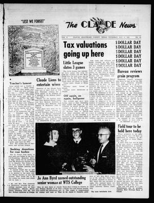 Primary view of object titled 'The Claude News (Claude, Tex.), Vol. 71, No. 40, Ed. 1 Thursday, May 25, 1961'.