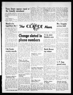 Primary view of object titled 'The Claude News (Claude, Tex.), Vol. 71, No. 24, Ed. 1 Thursday, February 2, 1961'.