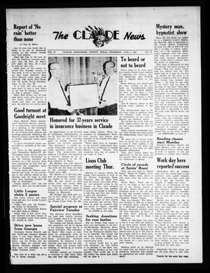 Primary view of object titled 'The Claude News (Claude, Tex.), Vol. 71, No. 41, Ed. 1 Thursday, June 1, 1961'.