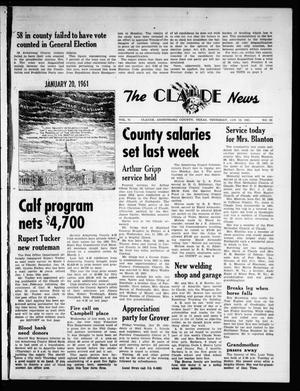 Primary view of object titled 'The Claude News (Claude, Tex.), Vol. 71, No. 22, Ed. 1 Thursday, January 19, 1961'.