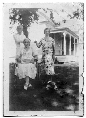 Primary view of object titled 'Alice and Ida Scrivner with Bell Shelton'.