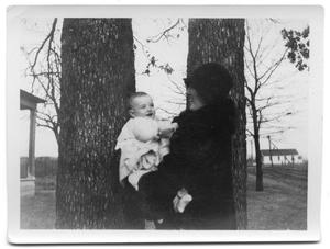 Primary view of object titled 'Nancy Cruse Delphinis with her son Charles Robert'.