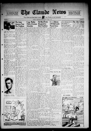 Primary view of object titled 'Claude News (Claude, Tex.), Vol. 54, No. 43, Ed. 1 Friday, June 29, 1945'.