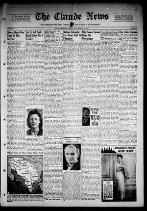 Primary view of object titled 'Claude News (Claude, Tex.), Vol. 53, No. 24, Ed. 1 Friday, February 11, 1944'.