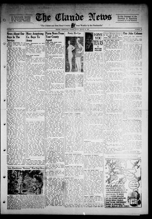 Primary view of object titled 'Claude News (Claude, Tex.), Vol. 53, No. 30, Ed. 1 Friday, March 24, 1944'.