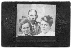 Primary view of object titled 'Portrait of a man and two women'.