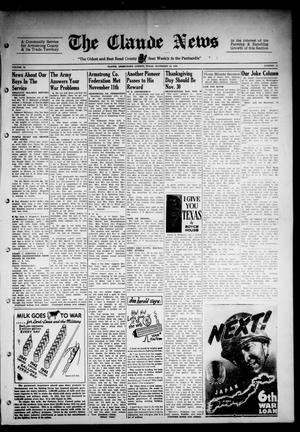 Primary view of object titled 'Claude News (Claude, Tex.), Vol. 54, No. 13, Ed. 1 Friday, November 24, 1944'.
