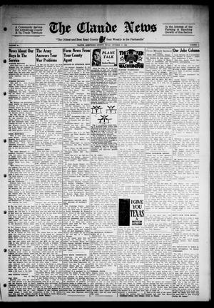 Primary view of object titled 'Claude News (Claude, Tex.), Vol. 54, No. 6, Ed. 1 Friday, October 6, 1944'.