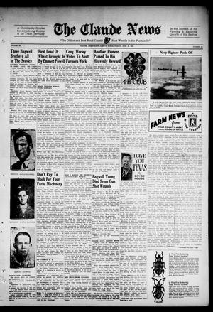 Primary view of object titled 'Claude News (Claude, Tex.), Vol. 52, No. 43, Ed. 1 Friday, June 18, 1943'.