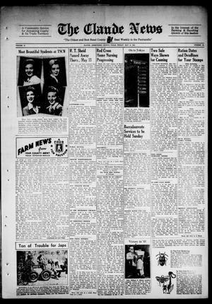 Primary view of object titled 'Claude News (Claude, Tex.), Vol. 52, No. 38, Ed. 1 Friday, May 14, 1943'.