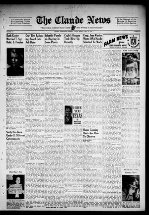 Primary view of object titled 'Claude News (Claude, Tex.), Vol. 52, No. 48, Ed. 1 Friday, July 23, 1943'.