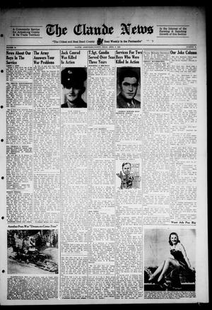 Primary view of object titled 'Claude News (Claude, Tex.), Vol. 54, No. 31, Ed. 1 Friday, April 6, 1945'.