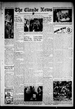 Primary view of object titled 'Claude News (Claude, Tex.), Vol. 52, No. 24, Ed. 1 Friday, February 5, 1943'.