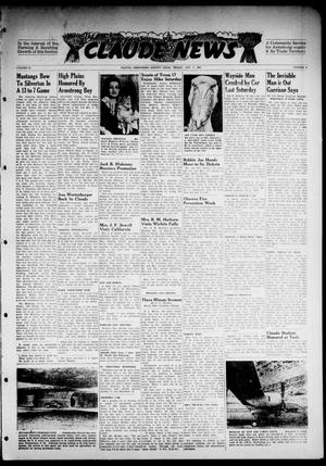 Primary view of object titled 'Claude News (Claude, Tex.), Vol. 57, No. 4, Ed. 1 Friday, October 3, 1947'.