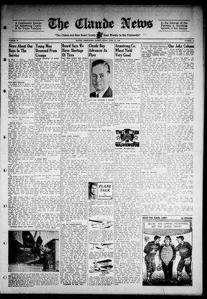 Primary view of object titled 'Claude News (Claude, Tex.), Vol. 53, No. 44, Ed. 1 Friday, June 30, 1944'.