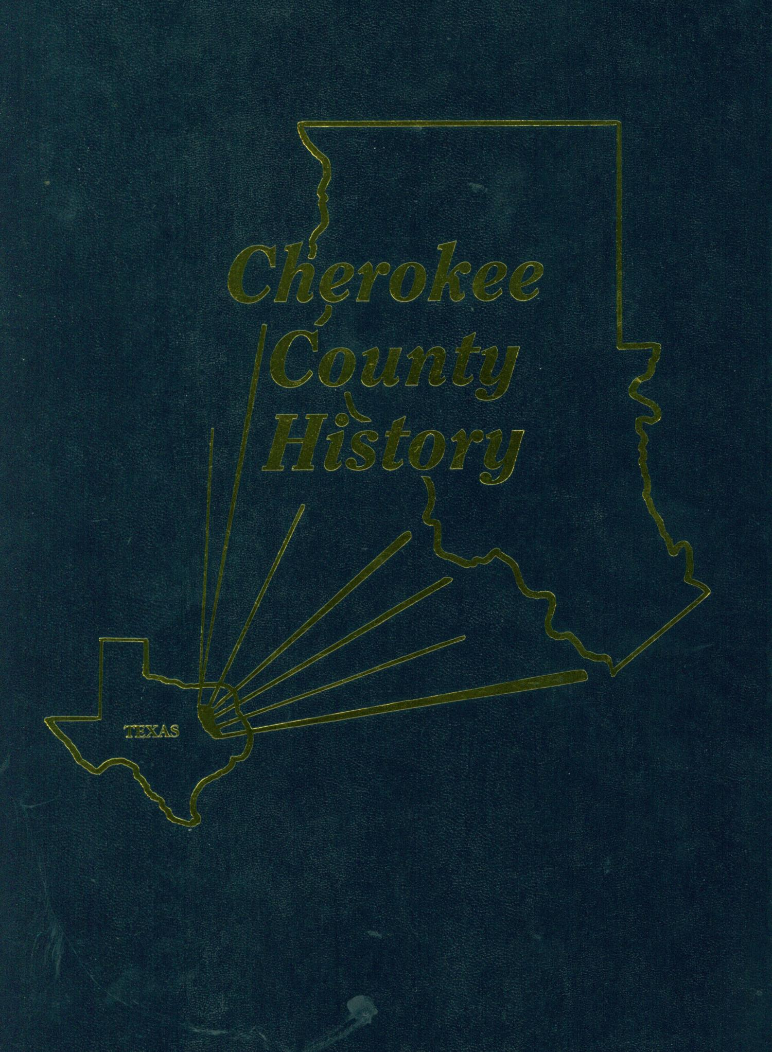Cherokee County History                                                                                                      Front Cover