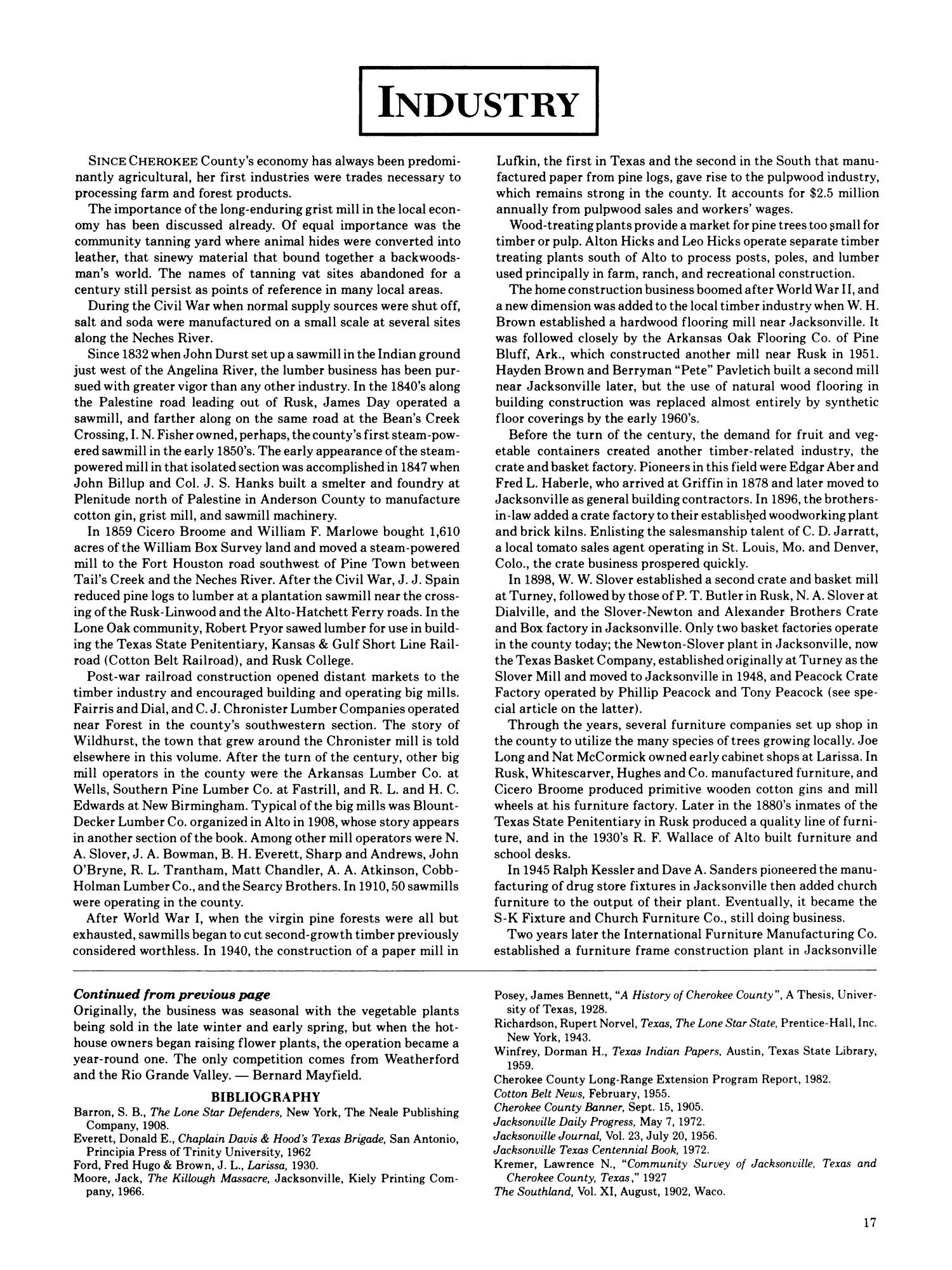 Cherokee County History Page 17 The Portal to Texas History