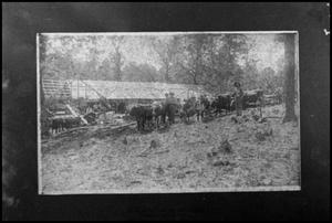 Primary view of object titled '[At the Sawmill]'.