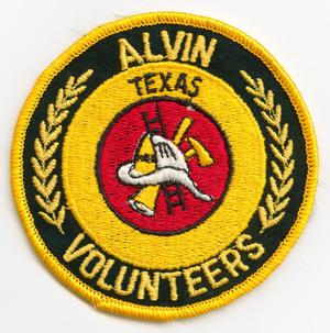 Primary view of object titled '[Alvin, Texas Volunteer Fire Department Patch]'.