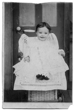 Primary view of object titled 'Postcard of Mary Elizabeth Wilkins as a baby'.