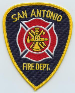 Primary view of object titled '[San Antonio, Texas Fire Department Patch]'.