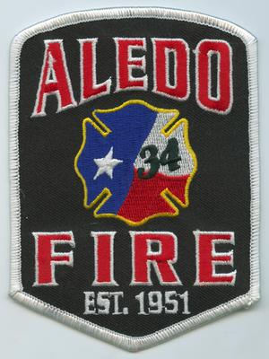 Primary view of object titled '[Aledo, Texas Fire Department Patch]'.