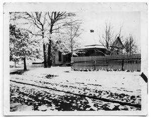 Primary view of object titled 'The Scrivner Home covered in snow'.